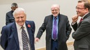 Sir David Attenborough and Michael Attenborough CBE at the opening of the George Davies Centre