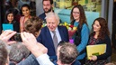Sir David meets the crowds at the opening of Attenborough Arts Jan 2016