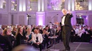 Sir David Attenborough speaks at the University of Leicester Alumni Dinner 2017