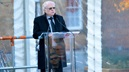 Michael Attenborough CBE talks at the opening of Centenary Square