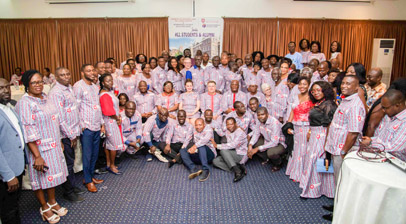 group photograph of the west african alumni event held in ghana