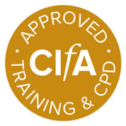 CIfA logo for approved training and CPD