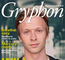 Front cover of Gryphon - the University of Leicester alumni magazine 2018