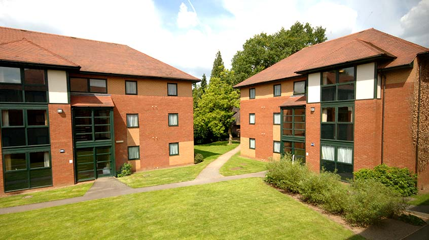 An exterior view of Bowder Court student accommodation