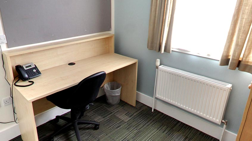 An internal shot of Digby Houses student accommodation