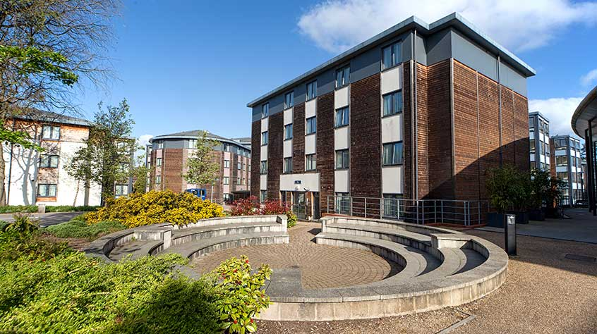 An exterior view of John Foster student accommodation