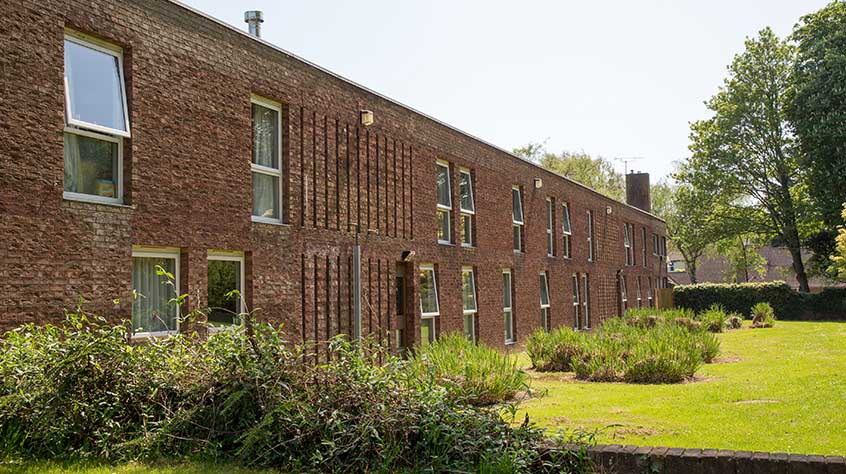 An exterior view of Meadow Court student accommodation