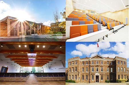 4 images of conference venues