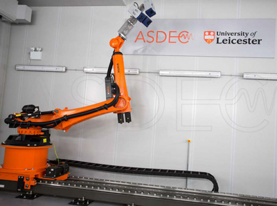 KUKA industrial robot in ASDECF laser vibrometry facility