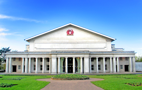 Exterior of De Montfort Hall, Leicester