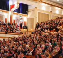 interior of De Montfort Hall