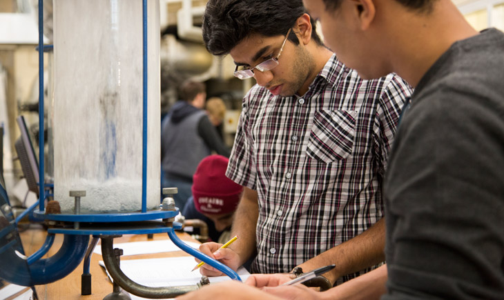 students at a workbench