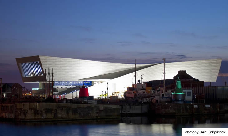 Museum of Liverpool at night